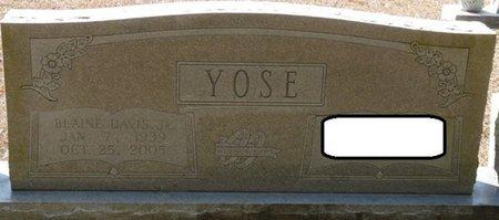 YOSE JR., BLAINE DAVIS - Wakulla County, Florida | BLAINE DAVIS YOSE JR. - Florida Gravestone Photos