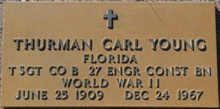 YOUNG (VETERAN WWII), THURMAN CARL (NEW) - Wakulla County, Florida   THURMAN CARL (NEW) YOUNG (VETERAN WWII) - Florida Gravestone Photos