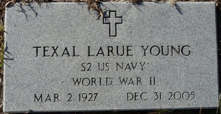 YOUNG (VETERAN WWII), TEXAL LARUE (NEW) - Wakulla County, Florida | TEXAL LARUE (NEW) YOUNG (VETERAN WWII) - Florida Gravestone Photos