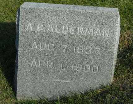 ALDERMAN, A.B. - Boone County, Illinois   A.B. ALDERMAN - Illinois Gravestone Photos