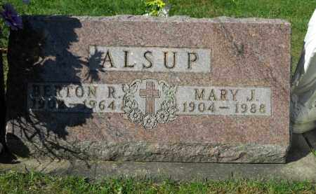 ALSUP, MARY J. - Boone County, Illinois | MARY J. ALSUP - Illinois Gravestone Photos