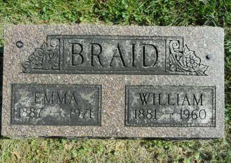BRAID, EMMA - Boone County, Illinois | EMMA BRAID - Illinois Gravestone Photos