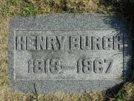 BURCH, HENRY - Boone County, Illinois   HENRY BURCH - Illinois Gravestone Photos