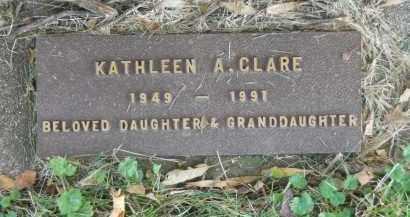 CLARE, KATHLEEN A. - Boone County, Illinois | KATHLEEN A. CLARE - Illinois Gravestone Photos
