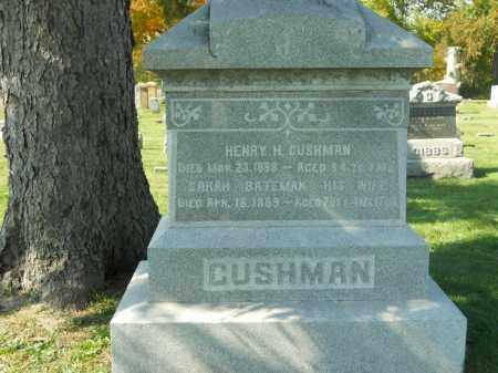 CUSHMAN, HENRY H. - Boone County, Illinois | HENRY H. CUSHMAN - Illinois Gravestone Photos