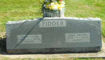 FIDDER, JOHN JACOB - Boone County, Illinois | JOHN JACOB FIDDER - Illinois Gravestone Photos