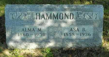 HAMMOND, ASA B. - Boone County, Illinois | ASA B. HAMMOND - Illinois Gravestone Photos