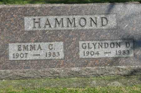 HAMMOND, GLYNDON D - Boone County, Illinois | GLYNDON D HAMMOND - Illinois Gravestone Photos