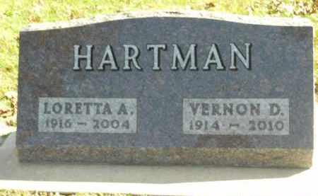 HARTMAN, VERNON D. - Boone County, Illinois | VERNON D. HARTMAN - Illinois Gravestone Photos