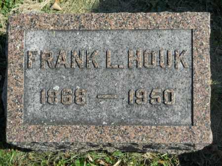 HOUK, FRANK L. - Boone County, Illinois | FRANK L. HOUK - Illinois Gravestone Photos