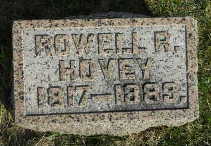 HOVEY, ROWELL R. - Boone County, Illinois | ROWELL R. HOVEY - Illinois Gravestone Photos