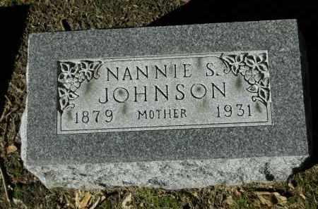 JOHNSON, NANNIE S. - Boone County, Illinois | NANNIE S. JOHNSON - Illinois Gravestone Photos