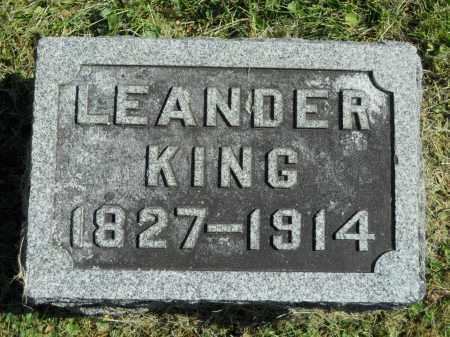 KING, LEANDER - Boone County, Illinois   LEANDER KING - Illinois Gravestone Photos