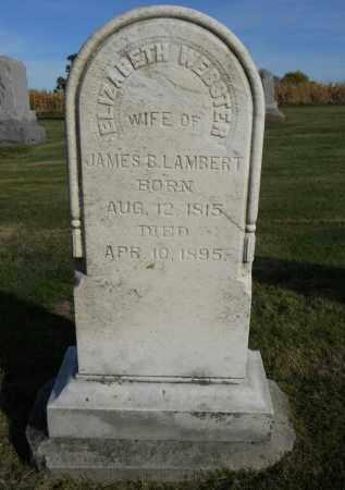 LAMBERT, ELIZABETH - Boone County, Illinois   ELIZABETH LAMBERT - Illinois Gravestone Photos
