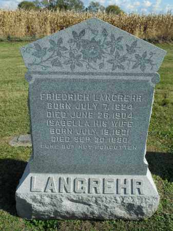 LANGREHR, ISABELLA - Boone County, Illinois | ISABELLA LANGREHR - Illinois Gravestone Photos