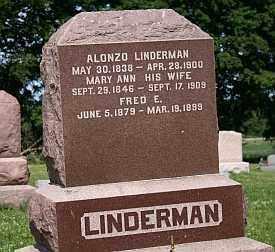 LINDERMAN, (CHARLES) ALONZO - Boone County, Illinois | (CHARLES) ALONZO LINDERMAN - Illinois Gravestone Photos