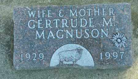 MAGNUSON, GERTRUDE M. - Boone County, Illinois | GERTRUDE M. MAGNUSON - Illinois Gravestone Photos