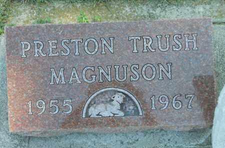 MAGNUSON, PRESTON TRUSH - Boone County, Illinois | PRESTON TRUSH MAGNUSON - Illinois Gravestone Photos