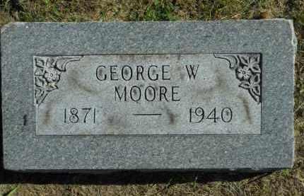 MOORE, GEORGE W. - Boone County, Illinois | GEORGE W. MOORE - Illinois Gravestone Photos