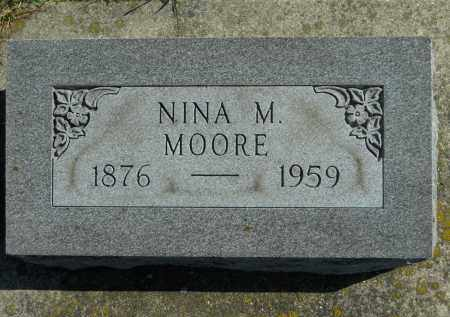 MOORE, NINA M. - Boone County, Illinois   NINA M. MOORE - Illinois Gravestone Photos
