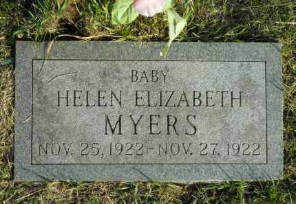 MYERS, HELEN ELIZABETH - Boone County, Illinois   HELEN ELIZABETH MYERS - Illinois Gravestone Photos