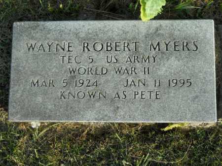 "MYERS, WAYNE ROBERT ""PETE"" - Boone County, Illinois | WAYNE ROBERT ""PETE"" MYERS - Illinois Gravestone Photos"