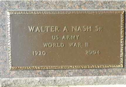 NASH, WALTER A. SR. - Boone County, Illinois | WALTER A. SR. NASH - Illinois Gravestone Photos