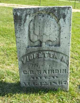 RAIRDIN, VIOLETTA - Boone County, Illinois   VIOLETTA RAIRDIN - Illinois Gravestone Photos