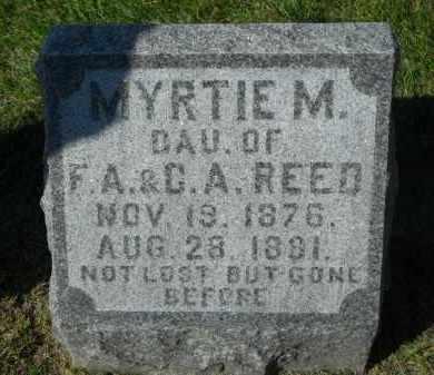 REED, MYRTIE M. - Boone County, Illinois | MYRTIE M. REED - Illinois Gravestone Photos