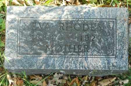 RHODES, EVA - Boone County, Illinois | EVA RHODES - Illinois Gravestone Photos