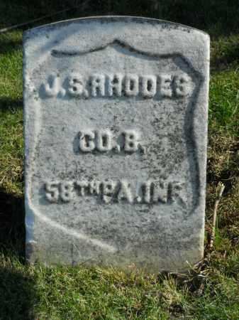 RHODES, J S. - Boone County, Illinois   J S. RHODES - Illinois Gravestone Photos