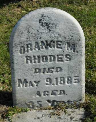 RHODES, ORANGE. M - Boone County, Illinois | ORANGE. M RHODES - Illinois Gravestone Photos