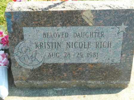 RICH, KRISTIN NICOLE - Boone County, Illinois | KRISTIN NICOLE RICH - Illinois Gravestone Photos