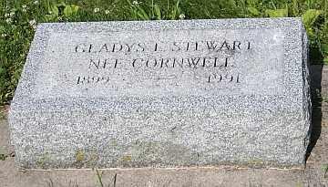 CORNWELL STEWART, GLADYS L - Boone County, Illinois | GLADYS L CORNWELL STEWART - Illinois Gravestone Photos