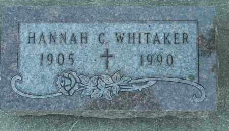 WHITAKER, HANNAH C. - Boone County, Illinois | HANNAH C. WHITAKER - Illinois Gravestone Photos