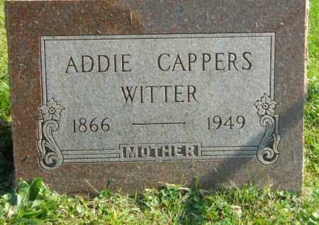 WITTER, ADDIE CAPPERS - Boone County, Illinois | ADDIE CAPPERS WITTER - Illinois Gravestone Photos