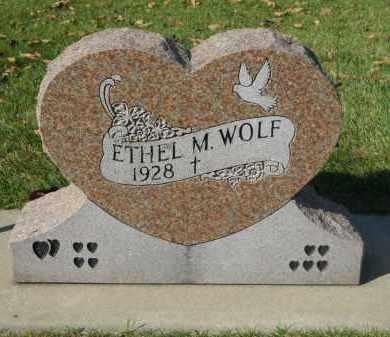 WOLF, ETHEL M. - Boone County, Illinois | ETHEL M. WOLF - Illinois Gravestone Photos