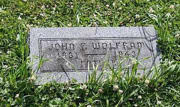 WOLFRAM, JOHN F - Boone County, Illinois | JOHN F WOLFRAM - Illinois Gravestone Photos
