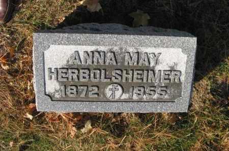 ROLLINS HERBOLSHEIMER, ANNA MAY - Bureau County, Illinois   ANNA MAY ROLLINS HERBOLSHEIMER - Illinois Gravestone Photos