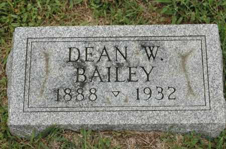 BAILEY, DEAN W. - Carroll County, Illinois   DEAN W. BAILEY - Illinois Gravestone Photos