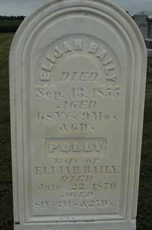 BAILEY, POLLY - Carroll County, Illinois | POLLY BAILEY - Illinois Gravestone Photos