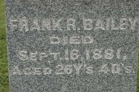 BAILEY, FRANK R. - Carroll County, Illinois | FRANK R. BAILEY - Illinois Gravestone Photos