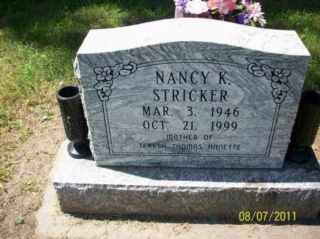 STRICKER, NANCY K. - Carroll County, Illinois | NANCY K. STRICKER - Illinois Gravestone Photos