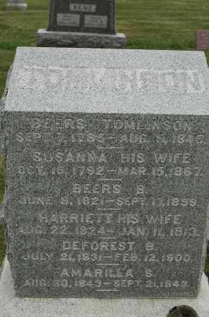 TOMLINSON, BEERS - Carroll County, Illinois | BEERS TOMLINSON - Illinois Gravestone Photos