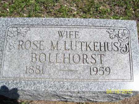 BOLLHORST, ROSE M. - Cass County, Illinois   ROSE M. BOLLHORST - Illinois Gravestone Photos