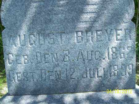 BREYER, AUGUST - Cass County, Illinois | AUGUST BREYER - Illinois Gravestone Photos