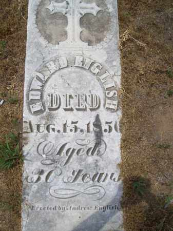 ENGLISH, EDWARD - Cass County, Illinois | EDWARD ENGLISH - Illinois Gravestone Photos