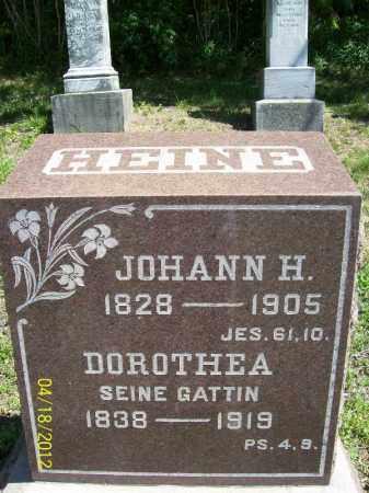 HEINE, JOHANN H. - Cass County, Illinois | JOHANN H. HEINE - Illinois Gravestone Photos