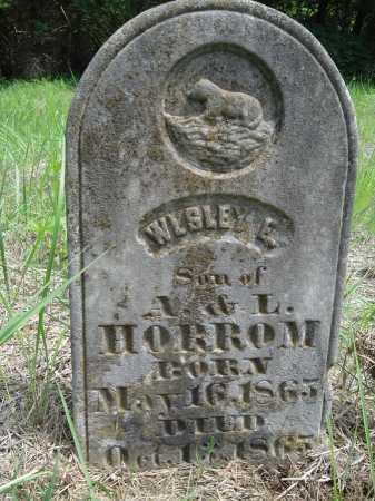 HORROM, WESLEY E. - Cass County, Illinois | WESLEY E. HORROM - Illinois Gravestone Photos