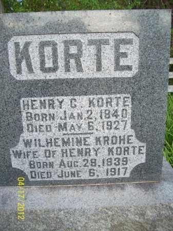 KORTE, WILHEMINE - Cass County, Illinois | WILHEMINE KORTE - Illinois Gravestone Photos
